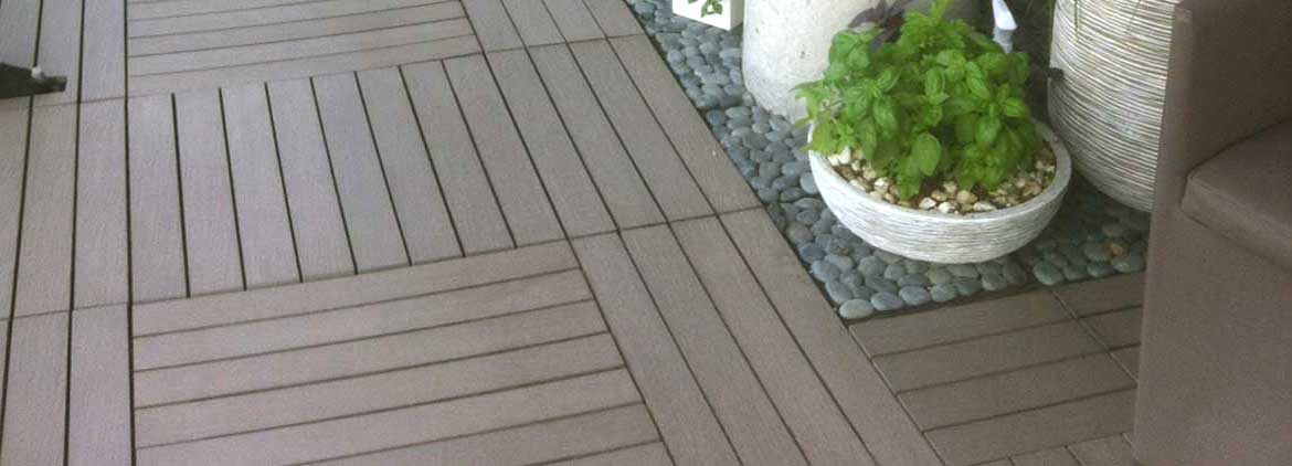 wood look composite tiles