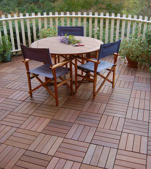 Versatile Ipe Wood Interlocking Deck Tiles By Archatrak