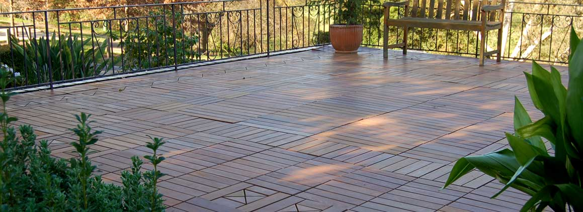 Great Interlocking Ipe Wood Deck Tiles